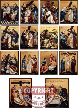 14th Stations Of The Cross-hand-painted-icons
