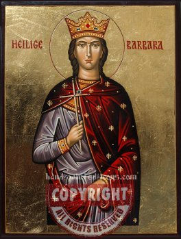 Heilige Barbara-hand-painted-icon