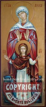 Saint Anna and Virgin Mary-28x10cm-hand-painted-icon
