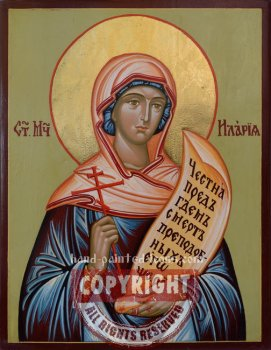 Saint Ilariya-hand-painted-icon