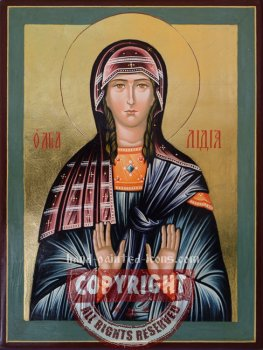 Saint Lidia- hand-painted-icon