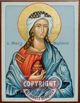 Saint Maria Magdalena-hand-painted-icon