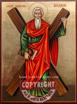 St Apostle Andrew-hand-painted-icon-v1