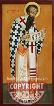St Basil The Great- hand-painted icon-28x16cm