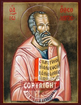 St John The Theologian- Apostle and Evangelist- hand-painted icon