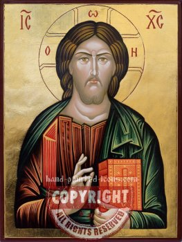 Christ Pantocrator-v1-hand-painted-icon