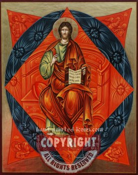 Christ in Majesty-hand-painted-orthodox-icon-45x35cm