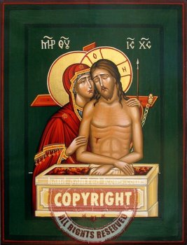 Christ in the earthen thomb-hand-painted-icon