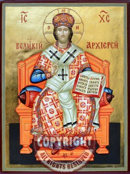 Jesus Christ- The Great Archiereus-hand-painted-icon
