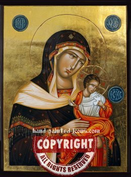 The Holy Virgin Konevskaya-hand-painted-icon-v1