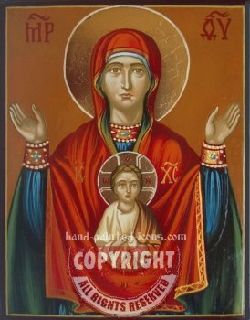 The Holy Virgin Oranta-v1-hand-painted-icon