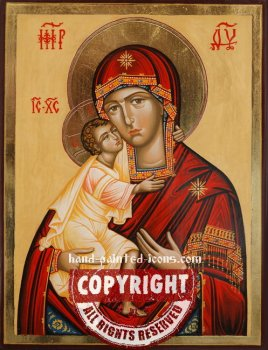 The Theodorovsk-Feodorovsk Kostroma Icon of the Mother of God-hand-painted-v1