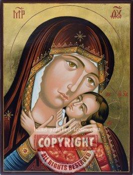 The Virgin Eleusa-Bachkovo-hand-painted-icon
