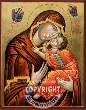 The Virgin Eleusa-Nessebar-hand-painted-icon