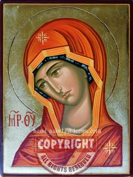 The Virgin-Ognevidnaya-hand-painted-icon