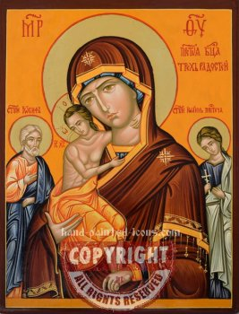 Mother of God Of the Three Joys-hand-painted-icon