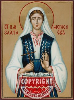 Saint Zlata of Meglen-hand-painted-icon