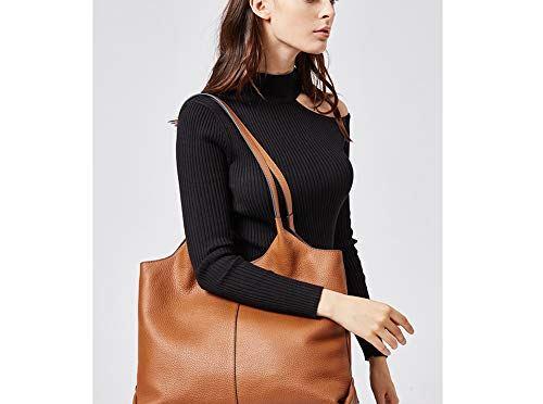 BOSTANTEN Women Handbags Designer Shoulder Tote Bag Soft Genuine Leather Top-handle Purse