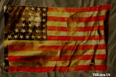 US Flag wrinkled