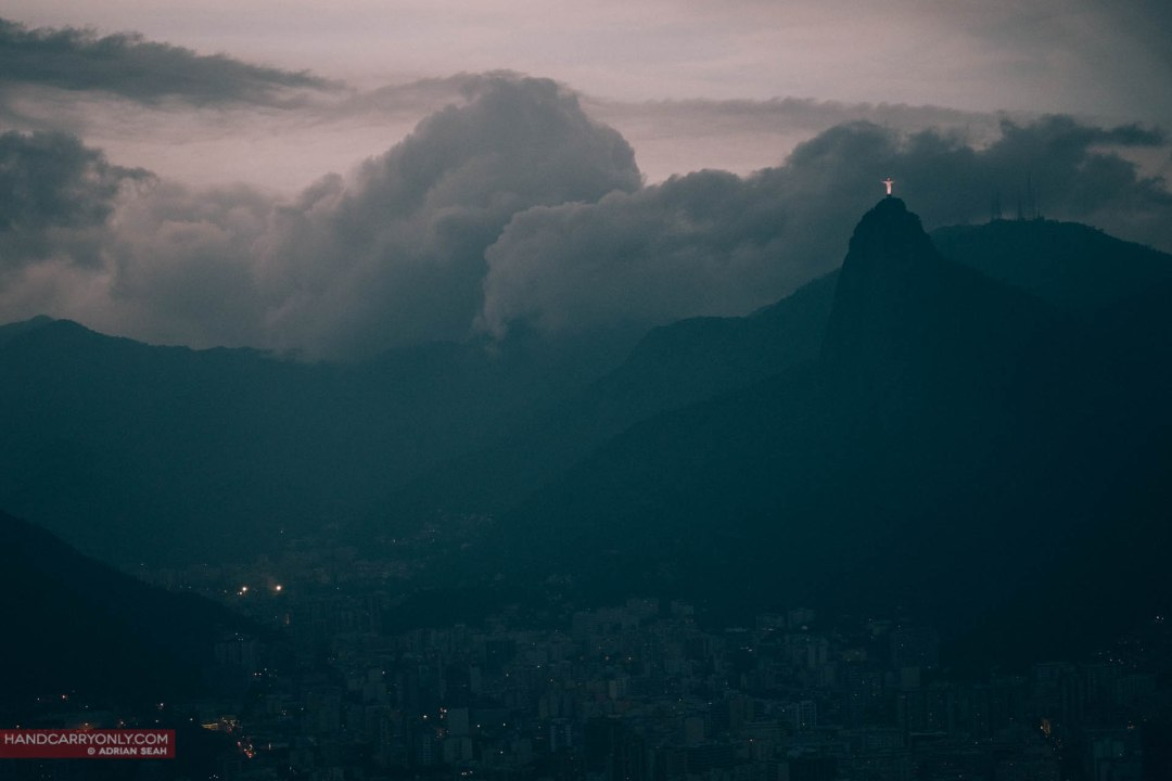 Cristo Redentor keeps watch over the city.