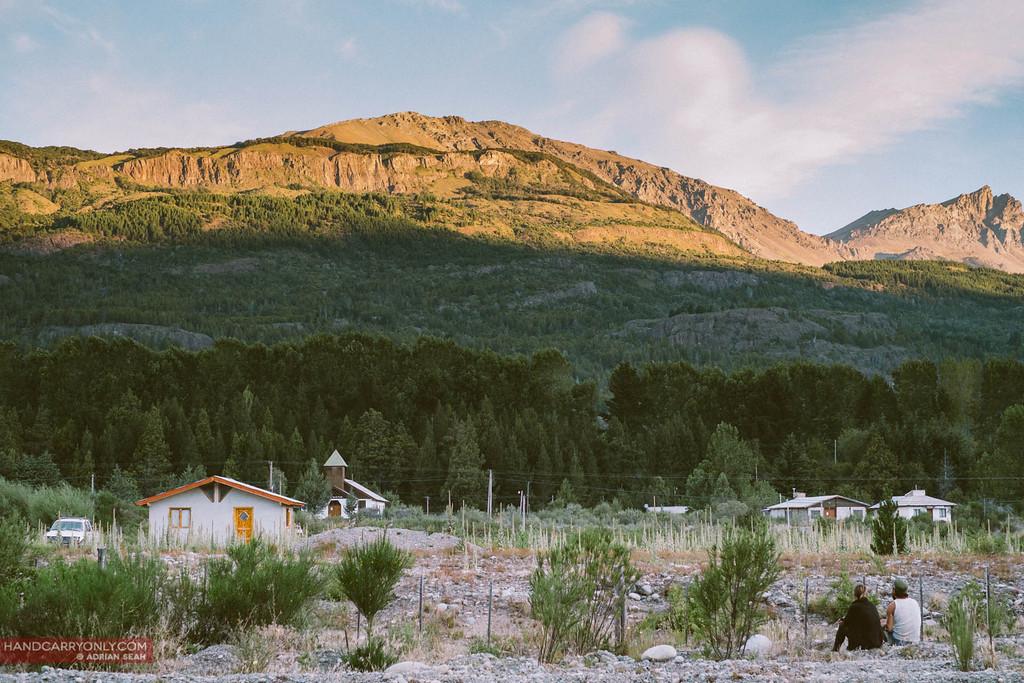 the sun sets on mount Piltriquitron, el bolson, patagonia, argentina