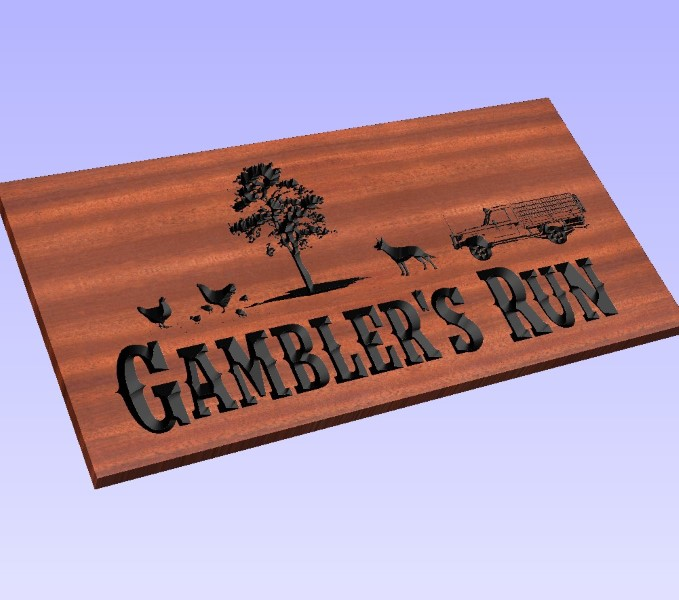 Preview picture of the simulation of engraved custom wood sign