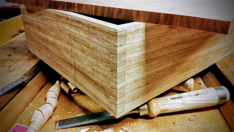 work in progress dovetail box case