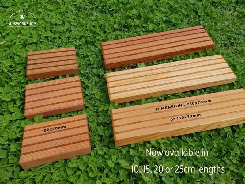 Soap holders various lengths Cedar