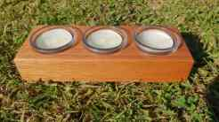 Add some sustainable Australian timber to your home today with this beautiful tea-light candle holder