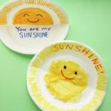 【壁面製作に】紙皿の形を活かした「にこにこおひさまプレート」