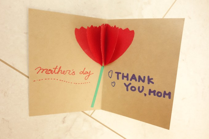 お花が立体的ふんわり飛び出すメッセージカード作り方