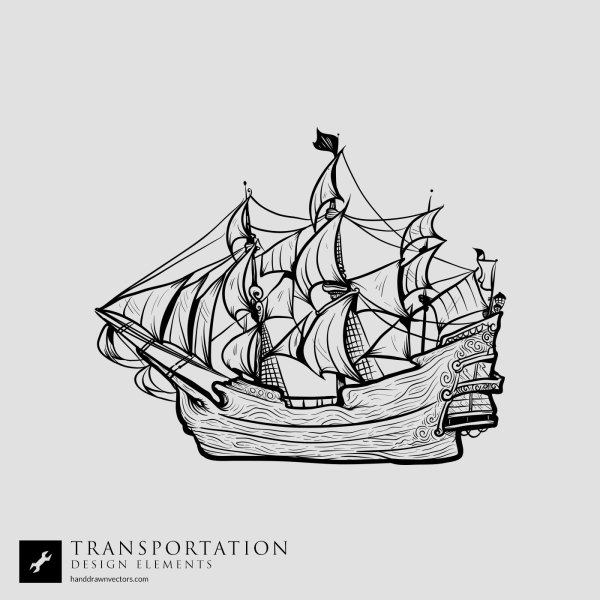Pirateship-Transportation-Vector