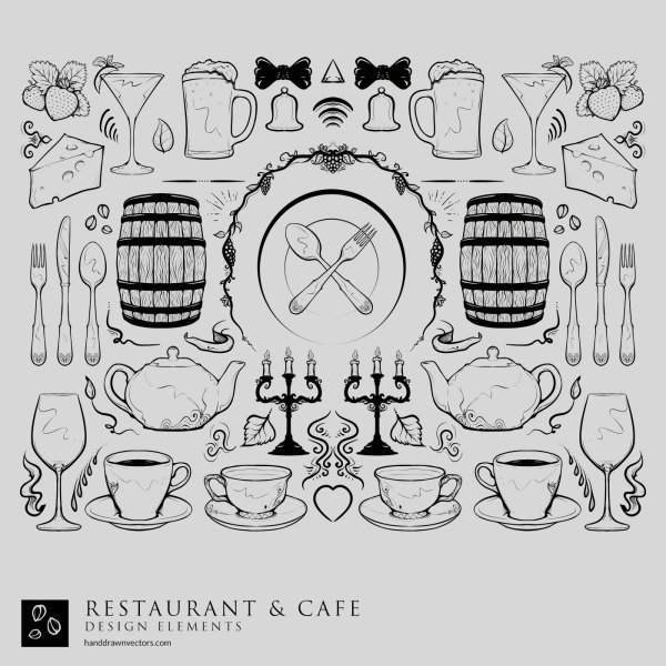 Restaurant-Cafe-Collection-Vector