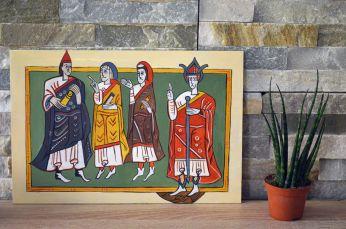 Imagen visigoda del Códice Albeldense o Vigilanus, año 881. Acrílico en DM 20x30 cm #80€# unid