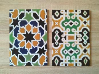 Cuadros con azulejos. Acrílico sobre tablex 20x30cm #80€#