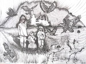 Tecknade kort och affischer