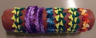Virkade armband