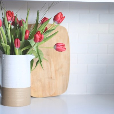 Easy DIY Painted Tile Backsplash