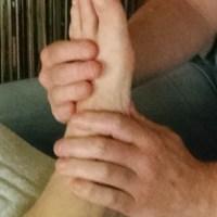 Voetreflexzone massage