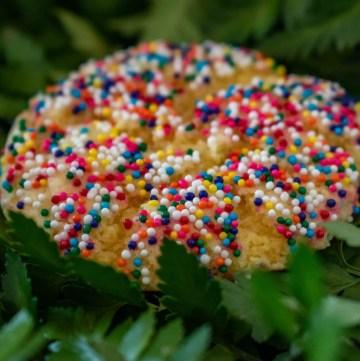 fairy bread cake mix cookies