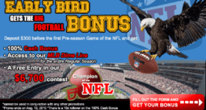 "CRSportsBet's ""The Early Bird Gets The Big Football Bonus"" - EXTENDED! 6"