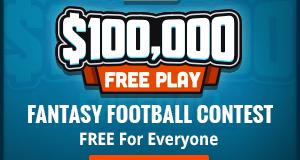 Week 1 NFL $100k Free Play at Draft Kings