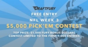 Free $5K Pick'em Contest at DraftFury