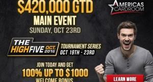 Americas Cardroom & BlackChip Poker -- $977,500 High Five Tournament Series 4