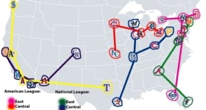 MLB Teams Map