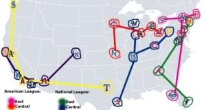 MLB Teams Map