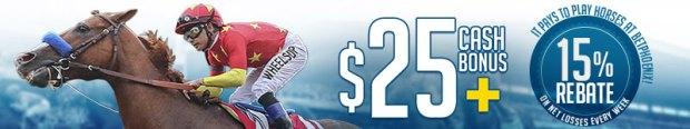 $25 Cash Bonus on Horse Racing at BetPhoenix
