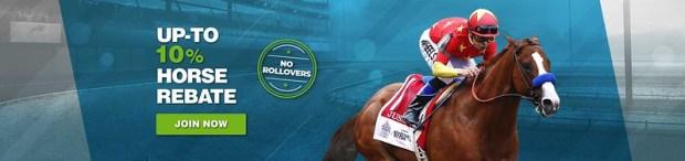 JAZZSports Horse Racing 10% Rebate Banner