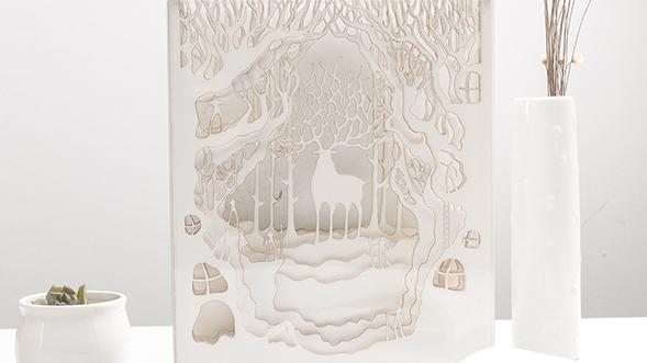 Craft DIY & Finnish Forest Reindeer Silhouette Papercut Template Printable,hobbies for college students,hobbies for college students,Deer in Princess Mononoke Handmade Lantern Home Decor, Princess Mononoke Deer God Wall Decoration Idea shadow box