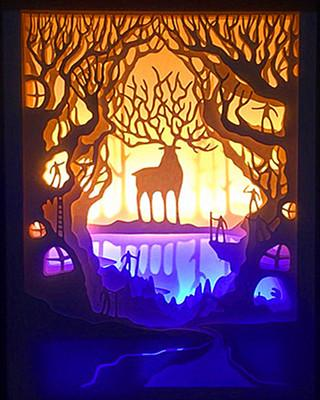 king of deer forest shadow box diy craft hobbies,hobbies to do alone,lantern moon,lantern memory,lantern night light,lantern nursery,lantern overlay,lantern ornament,lantern on stand,lantern outdoor,lantern outside,lantern on post,lantern personalized